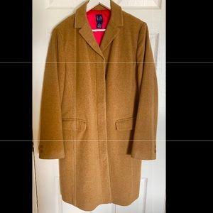 Gap Wool Camel Coat Pink Lining L
